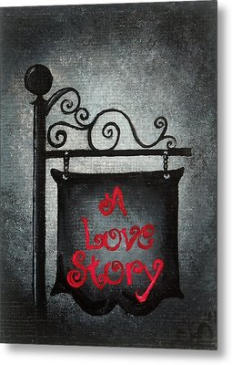 A Love Story No 10 Metal Print by Oddball Art Co by Lizzy Love