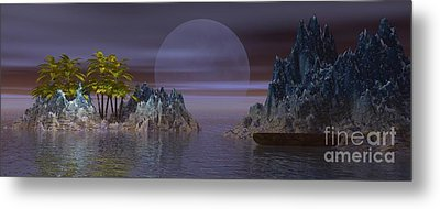Metal Print featuring the digital art A Lover's Hide-a-way by Jacqueline Lloyd