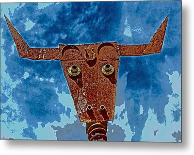 A Lucky Bull Metal Print by Lynn Sprowl