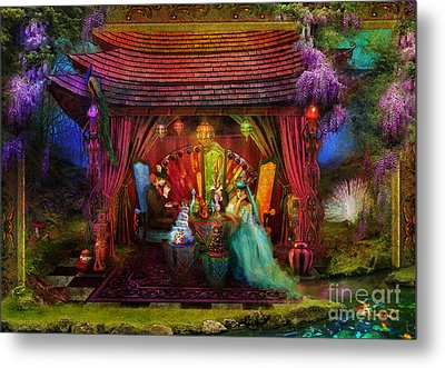 A Mad Tea Party Metal Print by Aimee Stewart