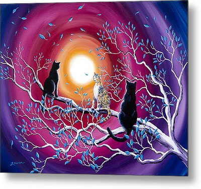 A Magical Autumn Night Metal Print by Laura Iverson