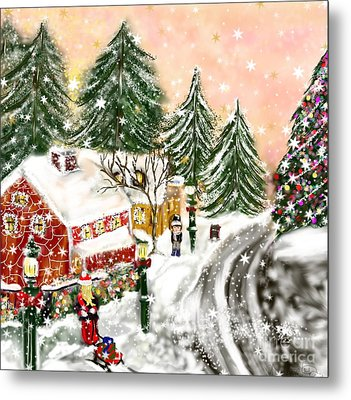Metal Print featuring the painting A Magical Frost by Lori  Lovetere