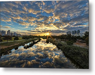 A Magical Marshmallow Sunrise  Metal Print by Ron Shoshani