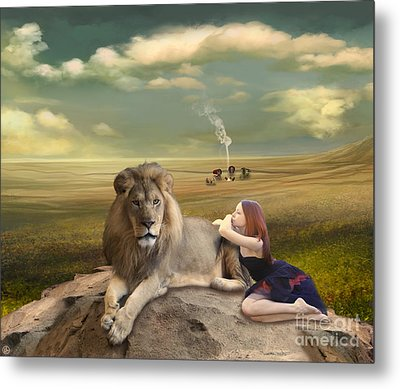 A Magnificent Friendship Metal Print by Linda Lees
