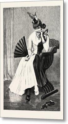 A Magpie, Engraving 1890, Engraved Image, History, Arkheia Metal Print
