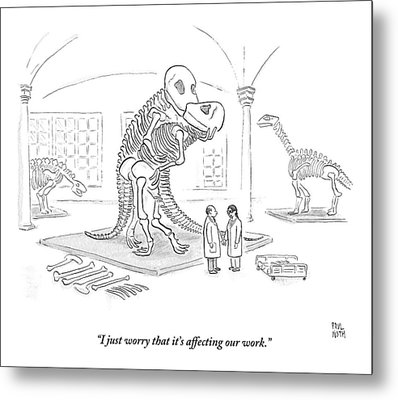 A Male And Female Paleontologist Metal Print