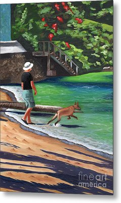 A Man And His Dog Metal Print by Laura Forde