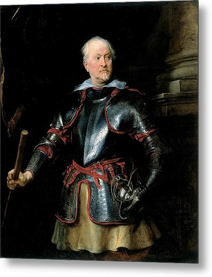 A Man In Armour, C.1621-27 Oil On Canvas Metal Print