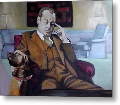 A Man's Best Friend Metal Print by Irena Mohr