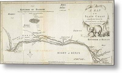 A Map Of The Slave Coast Metal Print
