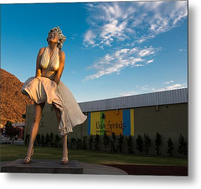 A Marilyn Morning Metal Print by John Daly