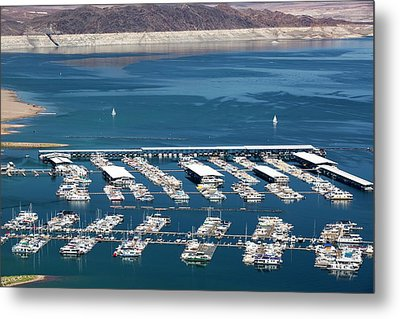 A Marina On Lake Mead Metal Print by Ashley Cooper