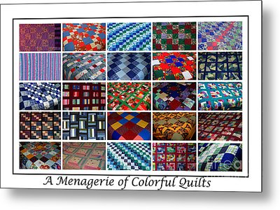 A Menagerie Of Colorful Quilts  Metal Print