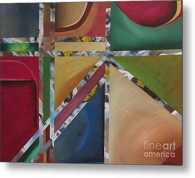 Metal Print featuring the painting A Mystery Behind by Nereida Rodriguez