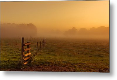 A Misty Sunrise Metal Print by Chris Fletcher