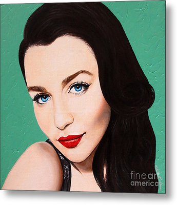 Metal Print featuring the painting A Modern Classic by Malinda Prudhomme