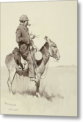 A Modern Sancho Panza Metal Print by Frederic Remington