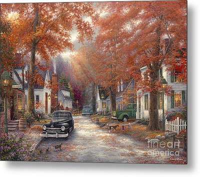 A Moment On Memory Lane Metal Print by Chuck Pinson