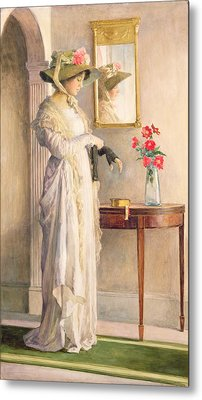 A Moment's Reflection Metal Print by William Henry Margetson