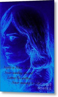 A Moody Blue Metal Print