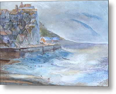 A Morning At The Sea Side Metal Print by Theo Brush