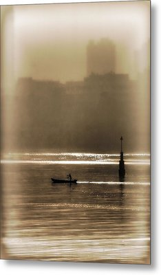 A Morning Paddle Metal Print