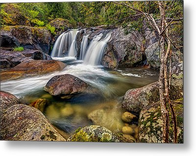 A Mountain Flow Metal Print
