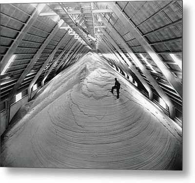 A Mountain Of Raw Sugar Metal Print