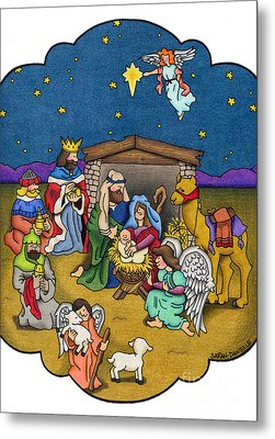 A Nativity Scene Metal Print by Sarah Batalka