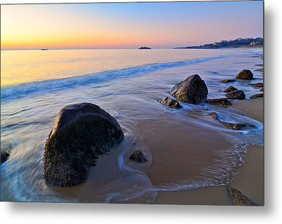 A New Day Singing Beach Metal Print by Michael Hubley