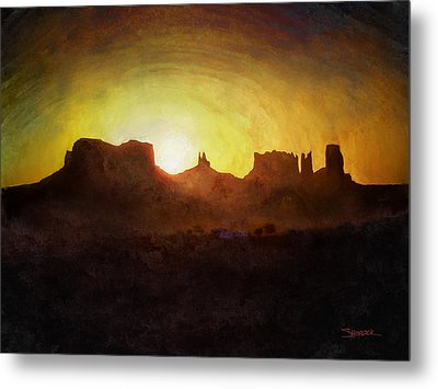A New Day - Monument Valley Metal Print