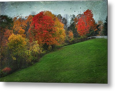 A New England Autumn Metal Print