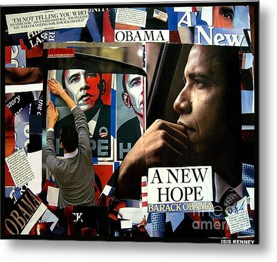 Barack Obama A New Hope Metal Print by Isis Kenney