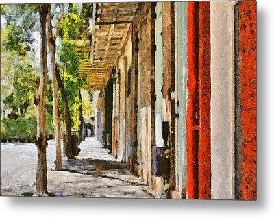A New Orleans Alley Metal Print by Christine Till