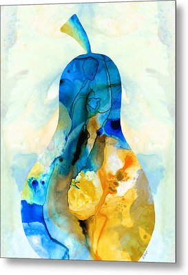 A Nice Pear - Abstract Art By Sharon Cummings Metal Print by Sharon Cummings