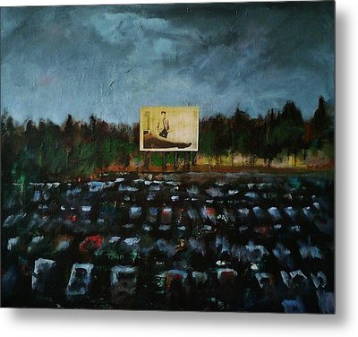 A Night At The Drive In Metal Print by Frances Marino