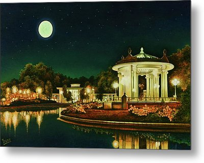 Metal Print featuring the painting A Night At The Muny by Michael Frank