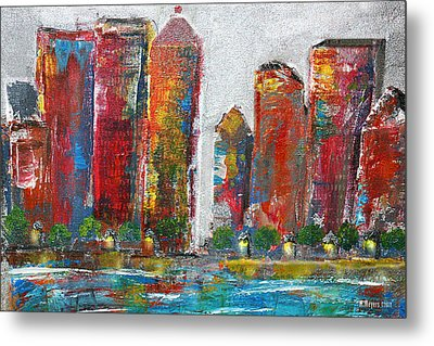 A Night In The City Metal Print by Melisa Meyers