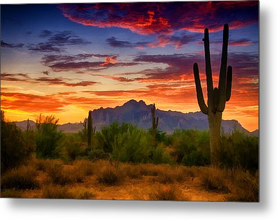 A Painted Desert  Metal Print