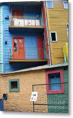 A Patchwork Of Houses Metal Print