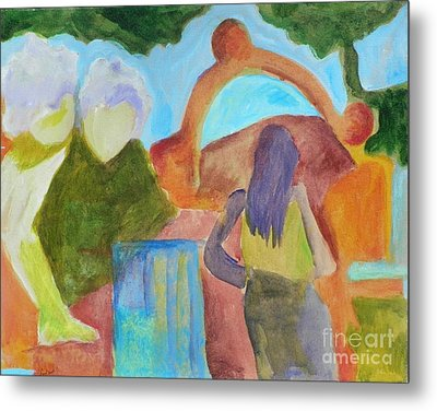 Metal Print featuring the painting A Path To Discover- Caprian Beauty Series 1 by Elizabeth Fontaine-Barr