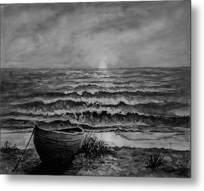 A Peaceful Evening  Metal Print by C Steele