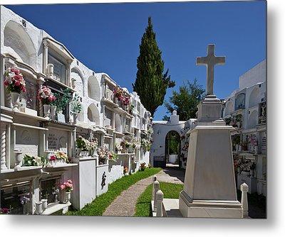 A Peaceful Graveyard In Casares,malaga Metal Print by Panoramic Images