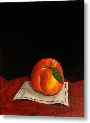 A Peach Metal Print