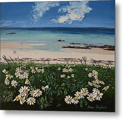 A Perfect Day At Coral Strand Connemara Ireland Metal Print by Diana Shephard