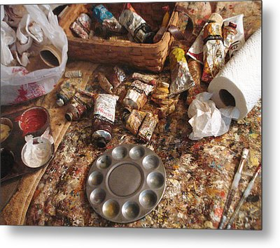 Metal Print featuring the photograph A Piece Of The Life Of An Artist by Hiroko Sakai