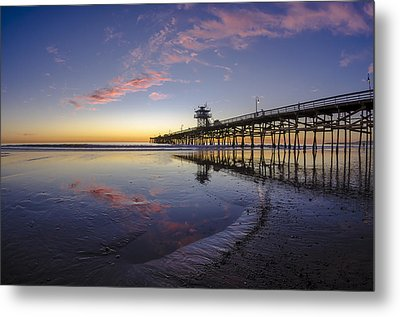 A Pink Low Tide Metal Print by Sean Foster