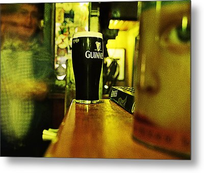 A Pint Metal Print by Tony Reddington
