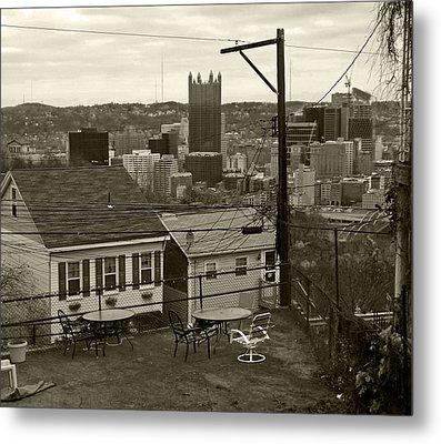 A Pittsburgh Backyard Metal Print