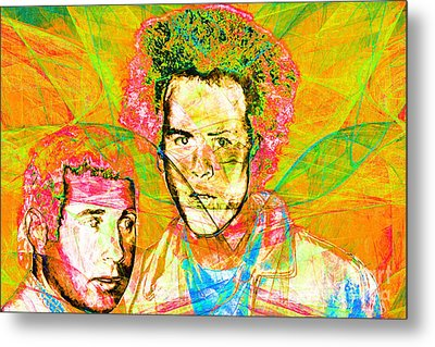 A Poet And A One Man Band Simon And Garfunkel 20140908 V2 Metal Print by Wingsdomain Art and Photography